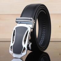 2017 Mens Fashion Leather Belt Men Gold Automatic Buckle Luxury Black Strap Designer Belts High Quality Mens Leather Belt