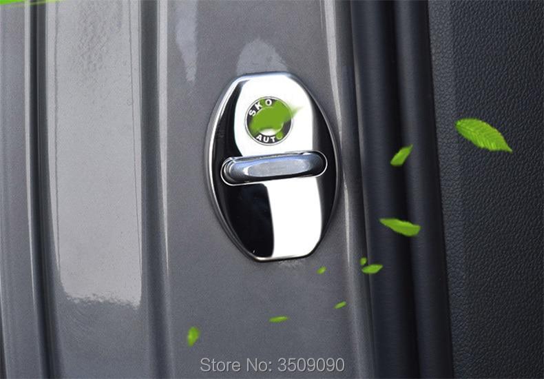 Pour Skoda Kodiaq/Octavia/Yeti/Rapide/Superbe/Fabia/Karoq 2016 2017 2018 Porte Couvercle de la Serrure Caps Car Styling