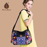 HOT VERKOOP Bohemen klassieke kruissteek patroon vrouwen handtassen Mode geborduurde canvas handgemaakte messenger bags