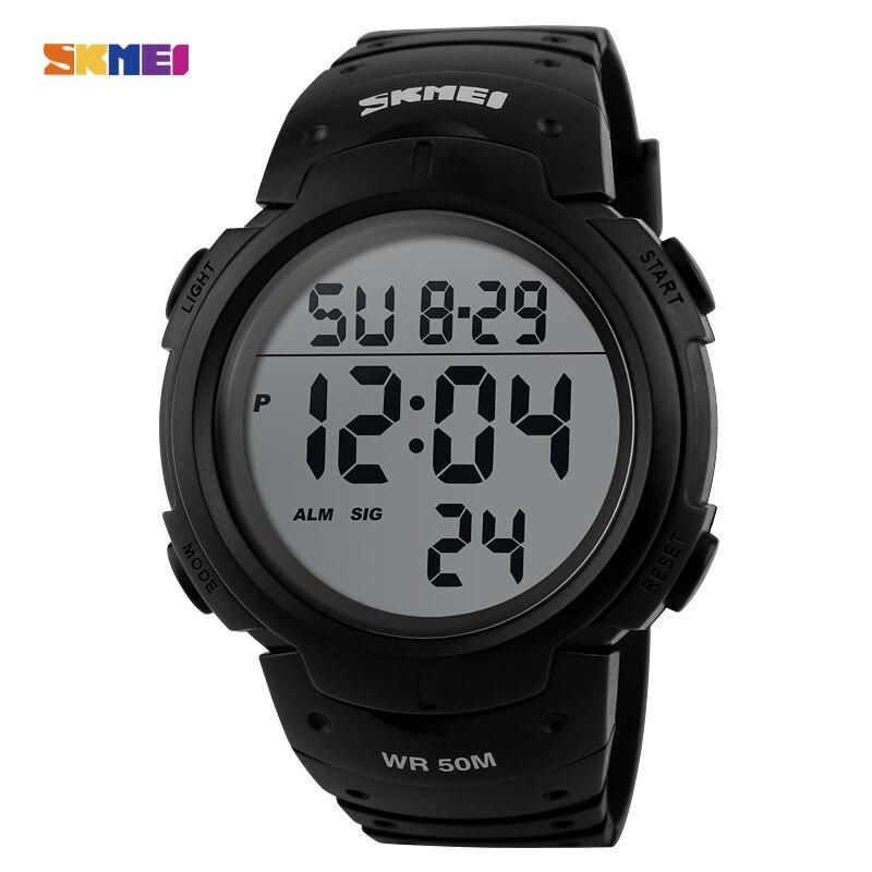 SKMEI 1068 Men LED Digital Wristwatches Fashion Brand Sport Watch Chrono Waterproof Military Watches Relogio Masculino