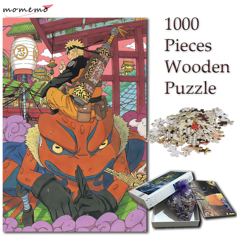 MOMEMO Jigsaw Puzzle 1000 Pieces Naruto Gama Cartoon Anime Puzzles for Adults NARUTO Puzzle 1000 Pieces Games Kids Children Toys