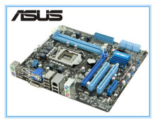 цена на 100% original motherboard for ASUS P7H55-M PLUS H55 support I3 I5 I7 Desktop motherboard Socket LGA 1156 DDR3 8GB uATX mainboard