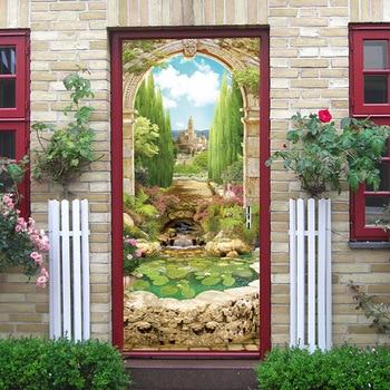 3D ประตูสติกเกอร์ Arches ดอกไม้ Seligman กาแฟของขวัญ Shop กรงสัตว์ร้านอาหาร Space Station Cafe ตกแต่งบ้านวาง Lakeside