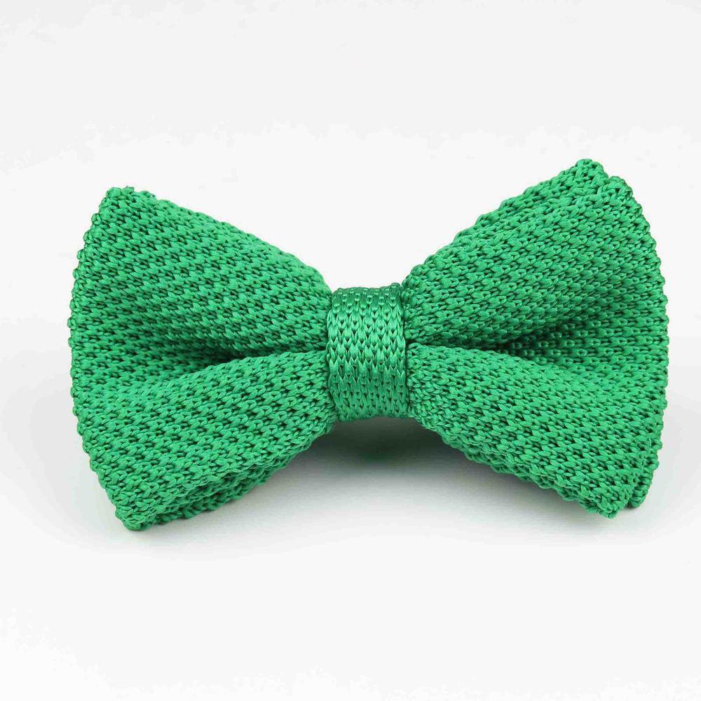 Мужские галстуки для шеи, смокинг, вязаная бабочка, Одноцветный галстук-бабочка, толстый двухслойный предварительно завязанный Регулируемый вязаный Повседневный галстук - Цвет: 27