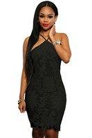 Black Lace Floral Luxe Party Dress