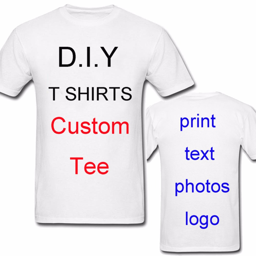 customized printing short front and back mens t shirt oem