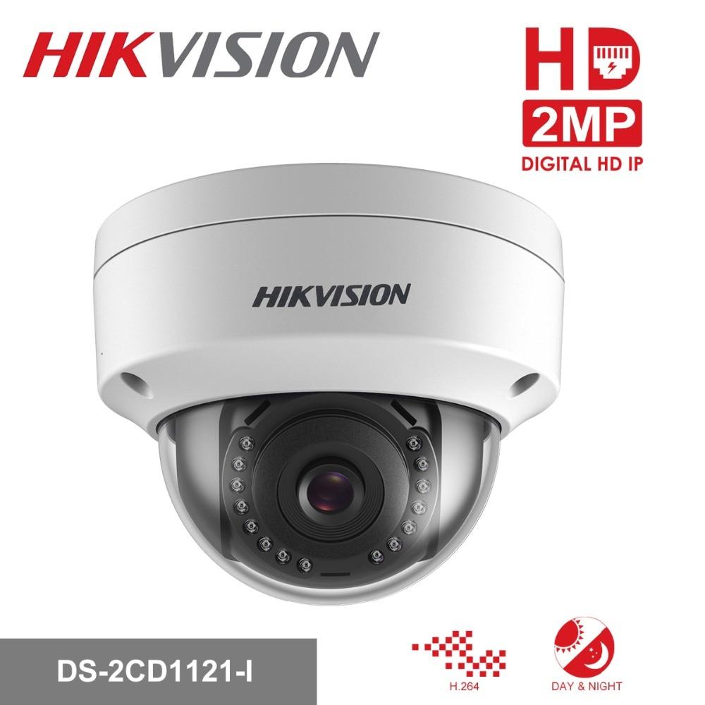 Original Hikvision 1080P CCTV IP Camera 1080P DS-2CD1121-I 2 Megapixel CMOS Night version Security PoE Dome Camera Outdoor hikvision overseas cctv camera ds 2cd2152f is 5mp cmos dome network poe ip camera security ip camera 1080p full hd