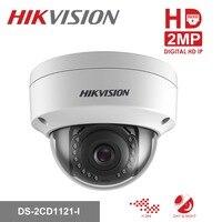 Original Hikvision 1080P CCTV IP Camera 1080P DS 2CD1121 I 2 Megapixel CMOS Night version Security PoE Dome Camera Outdoor