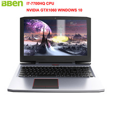 BBEN G16 15.6″ Win10 Laptop NVIDIA GTX1060 Intel I7-7700HQ kabylake RGB Backlit Keyboard 16G RAM No SSD 1T HDD Laptop Computer