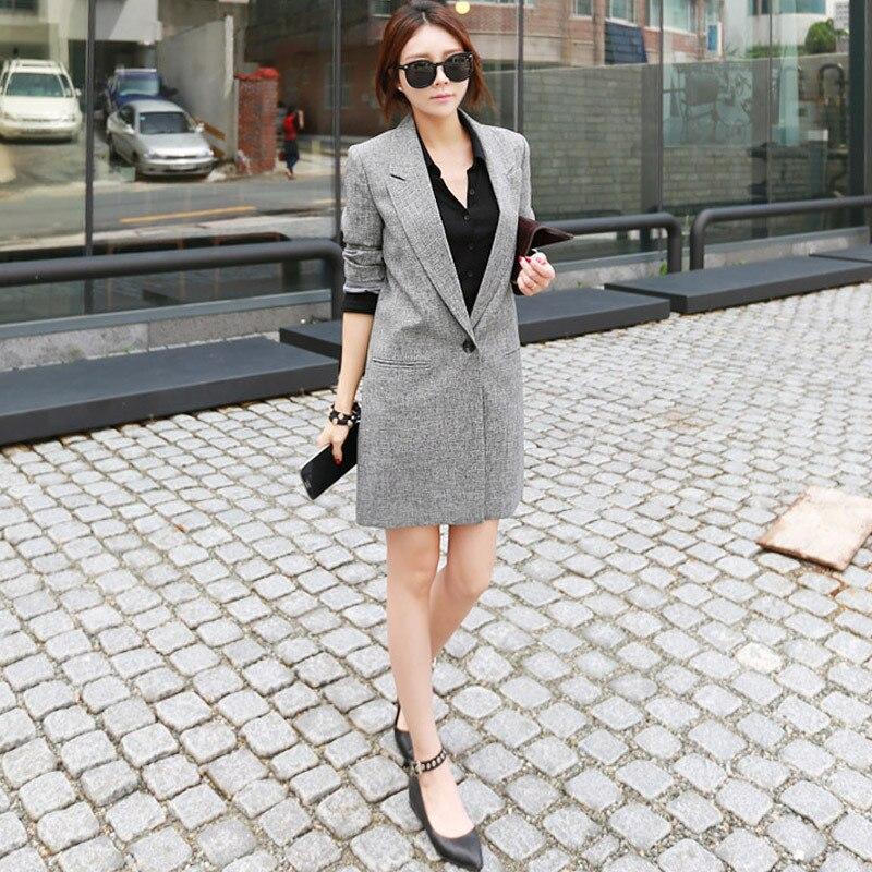 Autumn New Women's Wear Mid-Long Slim Leisure Women's Coat