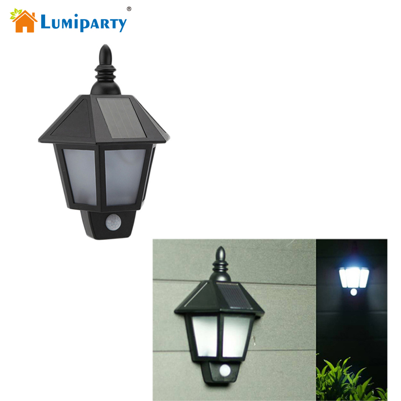 Lumiparty LED Solar Wall Light Outdoor Solar Wall Sconces