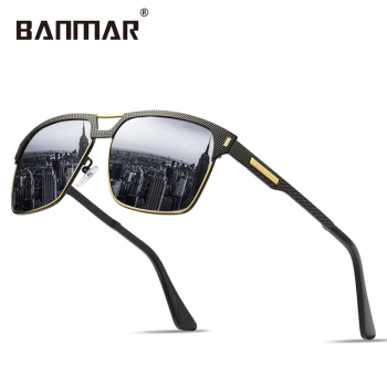 fbc0f8b6c1 BANMAR New Sunglasses Men Polarized Brand Designer Square Sun Glasses Male  HD Driving Glasses Lunette Gafas De Sol Oculos 8752