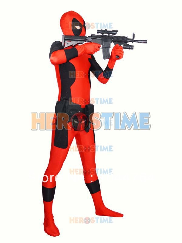 레드 Deadpool 제복 새로운 특별 Deadpool 제복 공장 도매