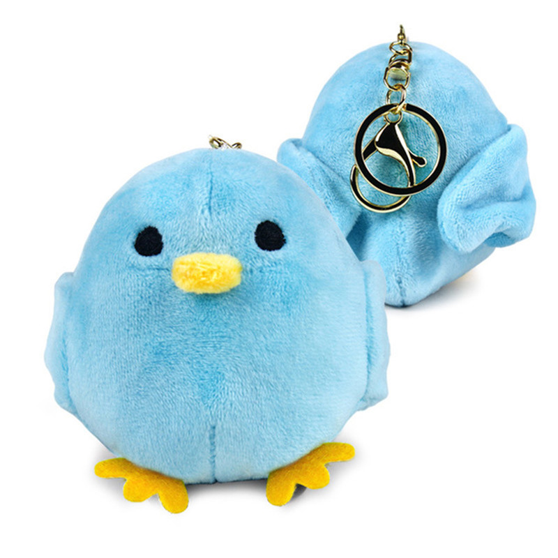 Anime Cartoon Blue Bird Youkai Apartment no Yuuga na Nichijou Cosplay Doll Toy Plush Keychain Halloween Keyring Christmas Gift