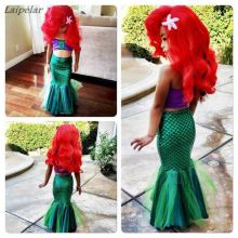 2018 sexy costumes for baby girls princess ariel dress The little Mermaid Ariel Cosplay costume mermaid Laipelar