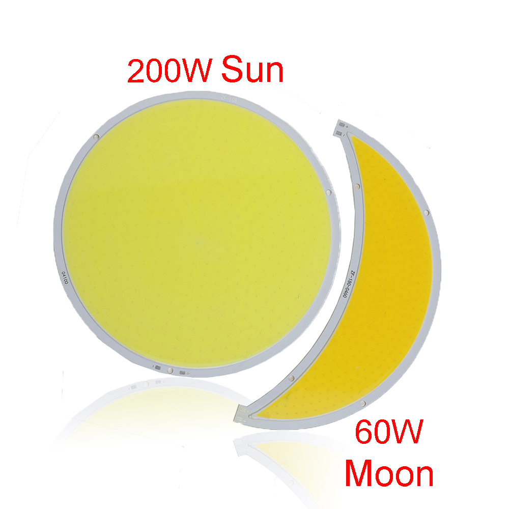 200W 60W COB led panel lights Moon Sun Flip led Scorce module Source DC12V 14V used for street light DIY light Fast ship VR 200w 60w cob led panel lights moon sun flip led scorce module source dc12v 14v used for street light diy light fast ship vr