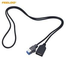 FEELDO 5 шт. автомобильный аудио 4PIN USB кабель адаптер гнездовой usb-разъем для Nissan Teana Qashqai 2012