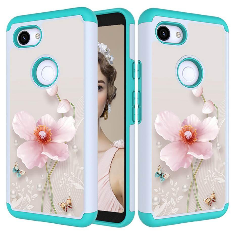 Phone Case For Google Pixel 3 3 XL TPU+PC 2 In 1 Phone Cover For Google Pixel 3A 3A XL Soft Silicon Case Capa Coque