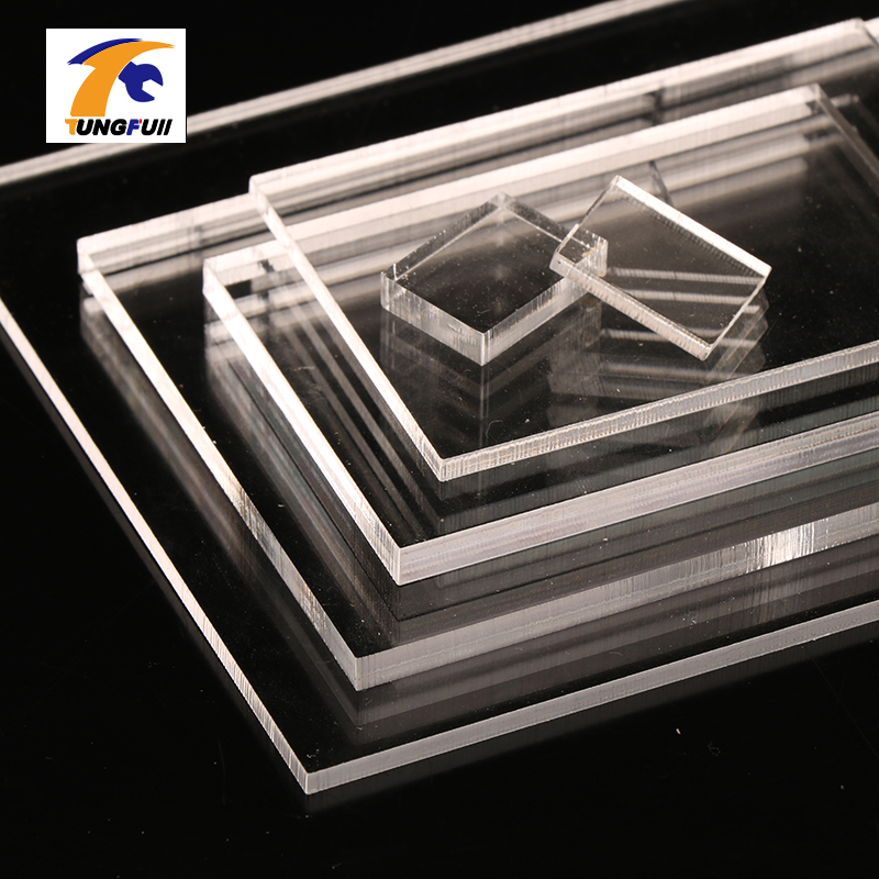 TUNGFULL 3mm Acrylic Thickness Clear Perspex Sheet Cut Plastic Transparent Board Perspex Panel Durable Doors And Signage Decor