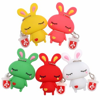 LEIZHAN Easter Bunny USB Flash Drive Rabbit Pendrive 64gb 32gb 16gb 8gb 4gb Pen Drive Good quality 2.0 USB Stick Memoria usb key