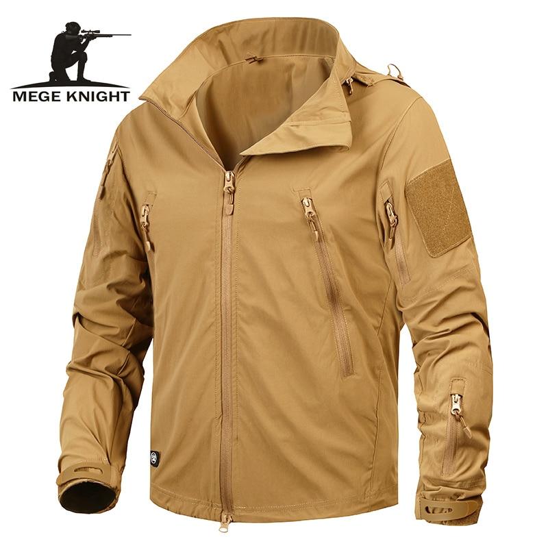 Mege Marque de Vêtements New Automne Hommes Veste Manteau Militaire Vêtements Tactique Outwear US Army Respirant Nylon Lumière Coupe-Vent