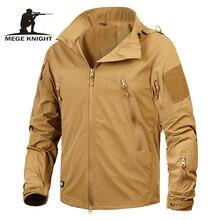 Megeブランド服新秋男性のジャケットコート軍服戦術生き抜く米軍通気性ナイロン軽量ウインドブレーカー