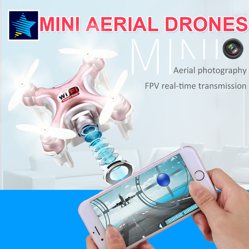 Cheerson CX-10WD Mini Wifi FPV High Hold Mode 0.3MP Camera Quadcopter LED Light 3D Flips/Rolls 2.4G 6-Axis Phone WIFI RTF RC Toy