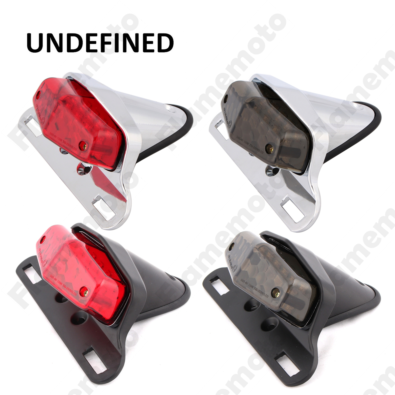 Motorcycle Parts British Lucas Style LED Rear Tail Brake Light License Plate Mount For Cafe Racer Bobber Cruiser UNDEFINED