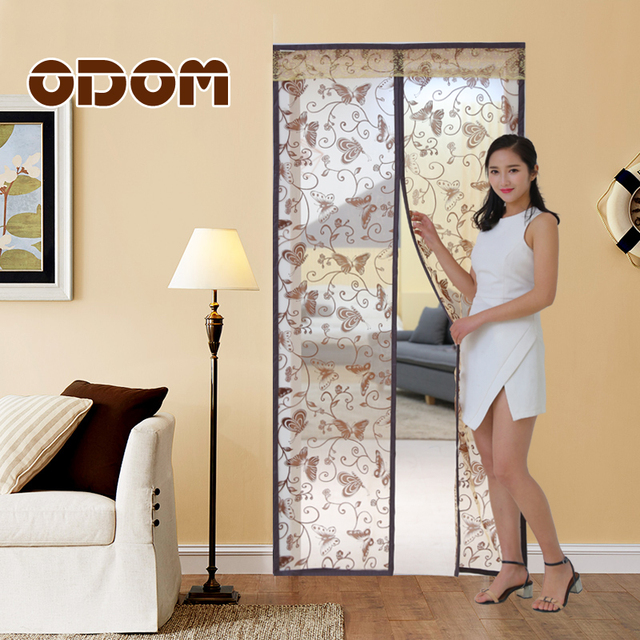 Bon Butterfly Pattern Top Quality Magnetic Door Screen Mesh Sheer Door Curtain  Anti Mosquito Net Insect