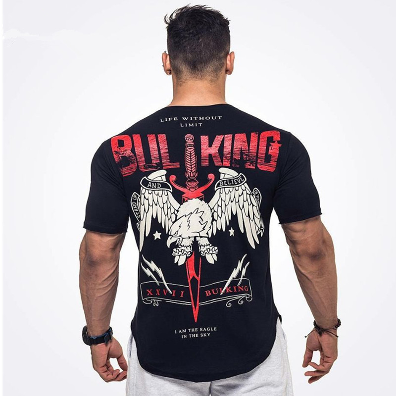 2018 hip hop men t shirt Men's Black T-shirt Summer Casual Man T Shirt Good Quality and size