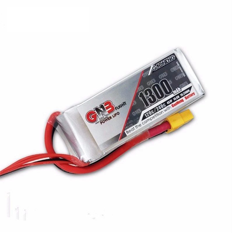 Hot Sale Gaoneng GNB 14.8V 1300mAh 4S 120C 240C Rechargeable Lipo Battery For FPV Racing RC Drones Quadcopter Power DIY lc l c power filter 2a 2 4s 25v lipo for fpv fpv video