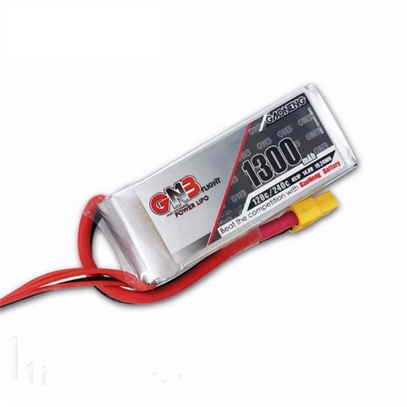 Vente chaude Gaoneng GNB 14.8 v 1300 mah 4S 120C 240C Rechargeable Lipo Batterie Pour FPV Racing RC Drones Quadcopter puissance BRICOLAGE