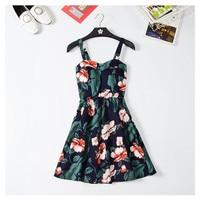 Marwin 2018 New Off shoulder ruffle Dot summer Dress women white strap chiffon beach Boho party sexy dresses vestido furits 3