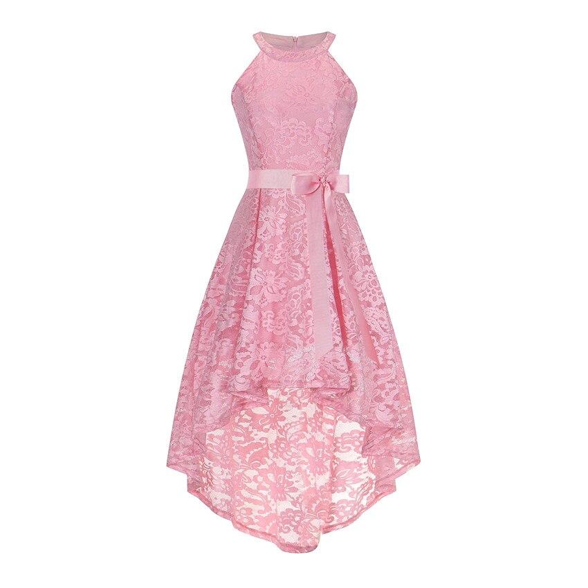 985c4d8c5fa OML526 Front short long back dark blue halter Bow Bridesmaid Dresses ...