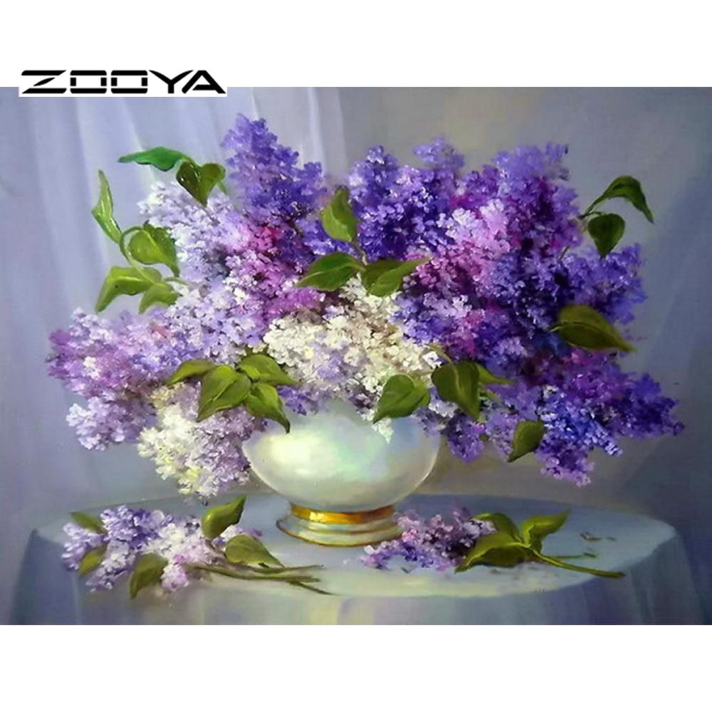 Zooya 5d اليدويه الماس اللوحة التطريز - الفنون والحرف والخياطة