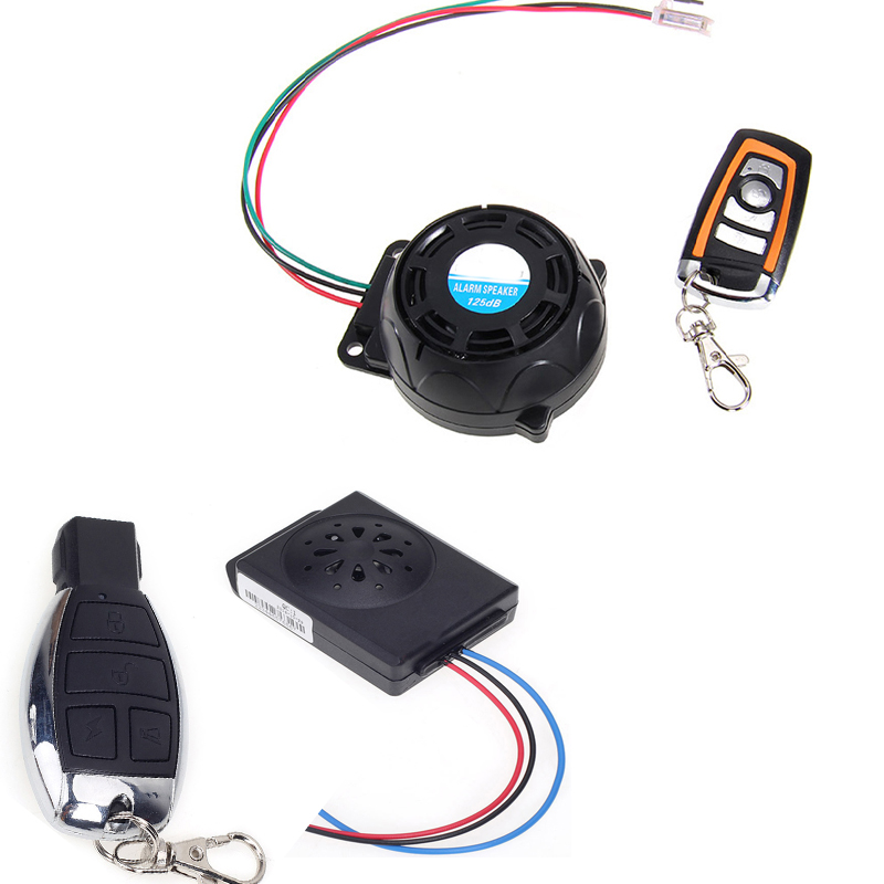 One Way Alarm For Motorcycle Scooter Anti-theft Alarm Motorbike Security System Universal Wireless Remote 125dB Alarms Buzzer