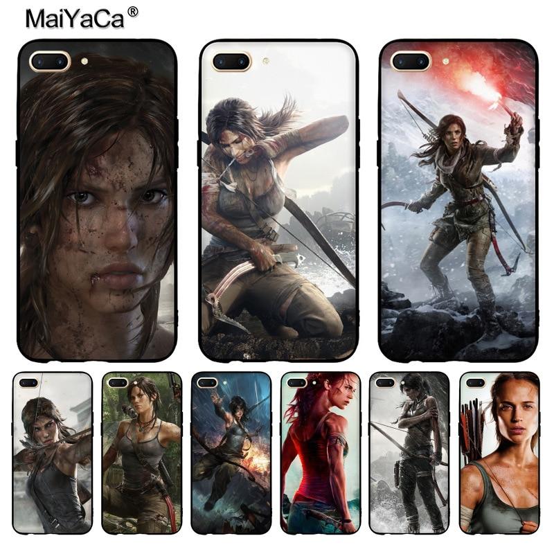 Maiyaca Tomb Raider дизайн моды кожа тонкий черный сотовый Чехол для Vivo x20plus x9s случае Coque для OPPO R11 R9 плюс Чехол