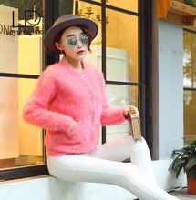 LOVELYDONKEY mink cashmere cardigan sweater women sweater coat cashmere sweater free shipping m708