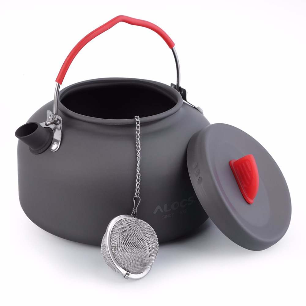 Alocs 1.4l Aluminum Cw-k03 Outdoor Kettle Camping Picnic Water Teapot Coffee Pot Free Shipping Camping & Hiking