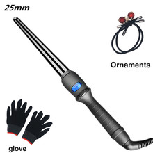 LCD  curlers conical curling iron