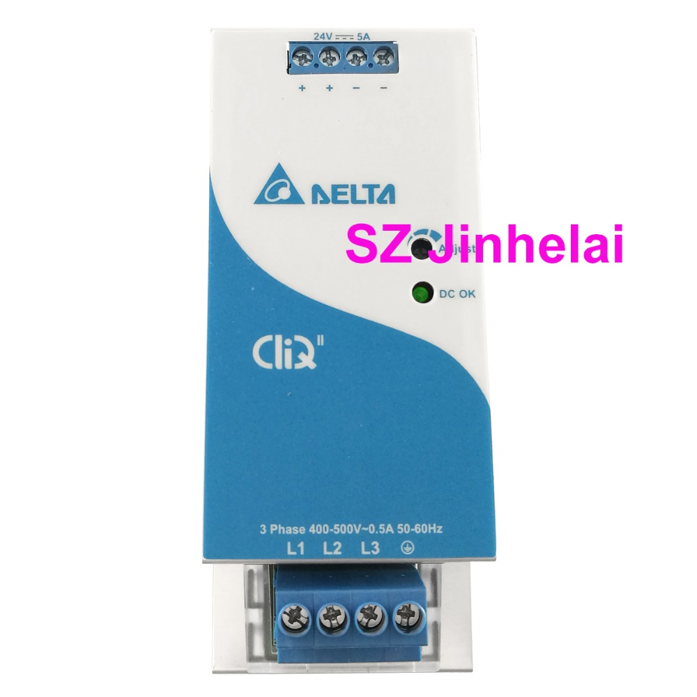 DELTA DRP024V120W3BN Authentic original 3-Phase Switching power supply 5A 120W Din Rail Power Supply SeriesDELTA DRP024V120W3BN Authentic original 3-Phase Switching power supply 5A 120W Din Rail Power Supply Series