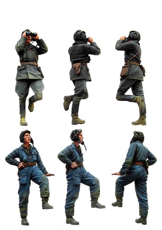 [tuskmodel] 1 35 Scale Resin Model Figures Kits Soviet Soldiers Tank Crew