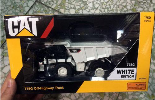 Тонкин 1/50 Caterpillar Камион самосвал Cat 775 г от шоссе грузовик белый TR30002 строительных машин