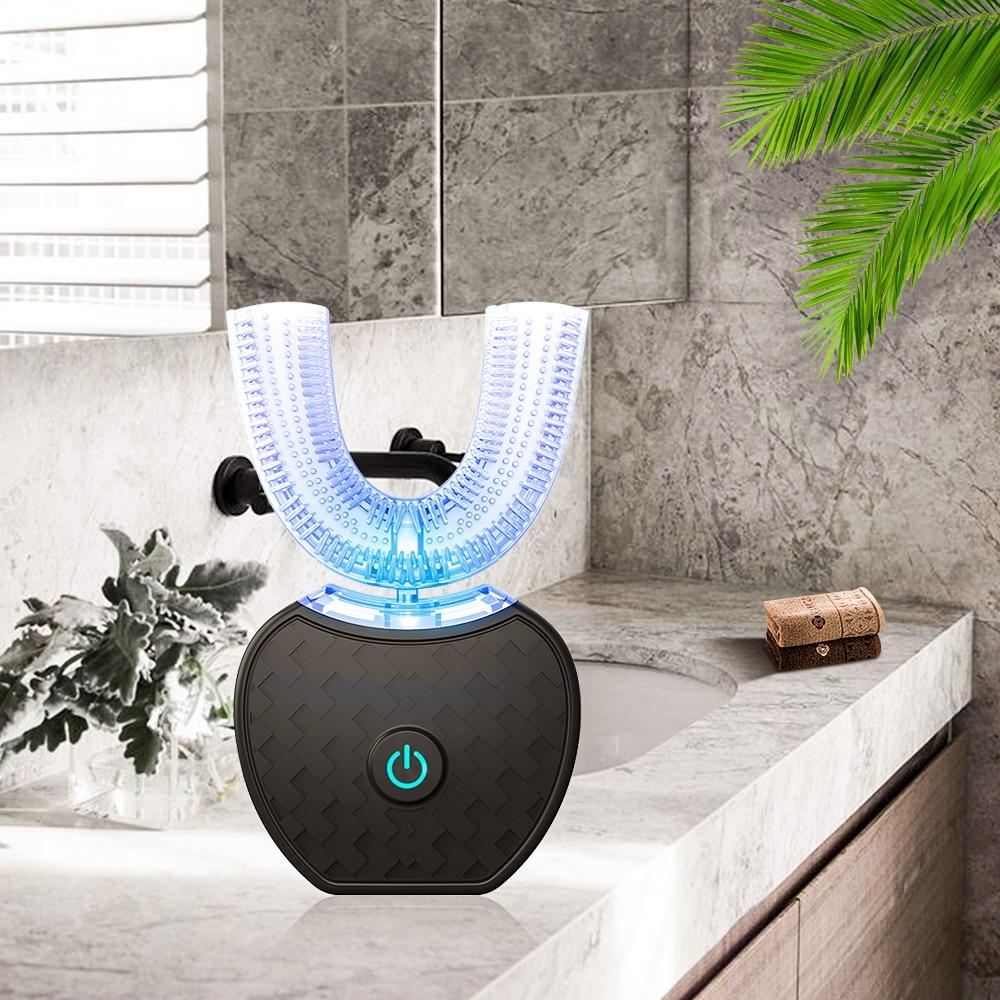 Smart Kits U 360 Sonic Automatic Toothbrush Ultrasonic Electric Toothbrush 2pcs Heads 60ml Liquid Toothpaste Adults