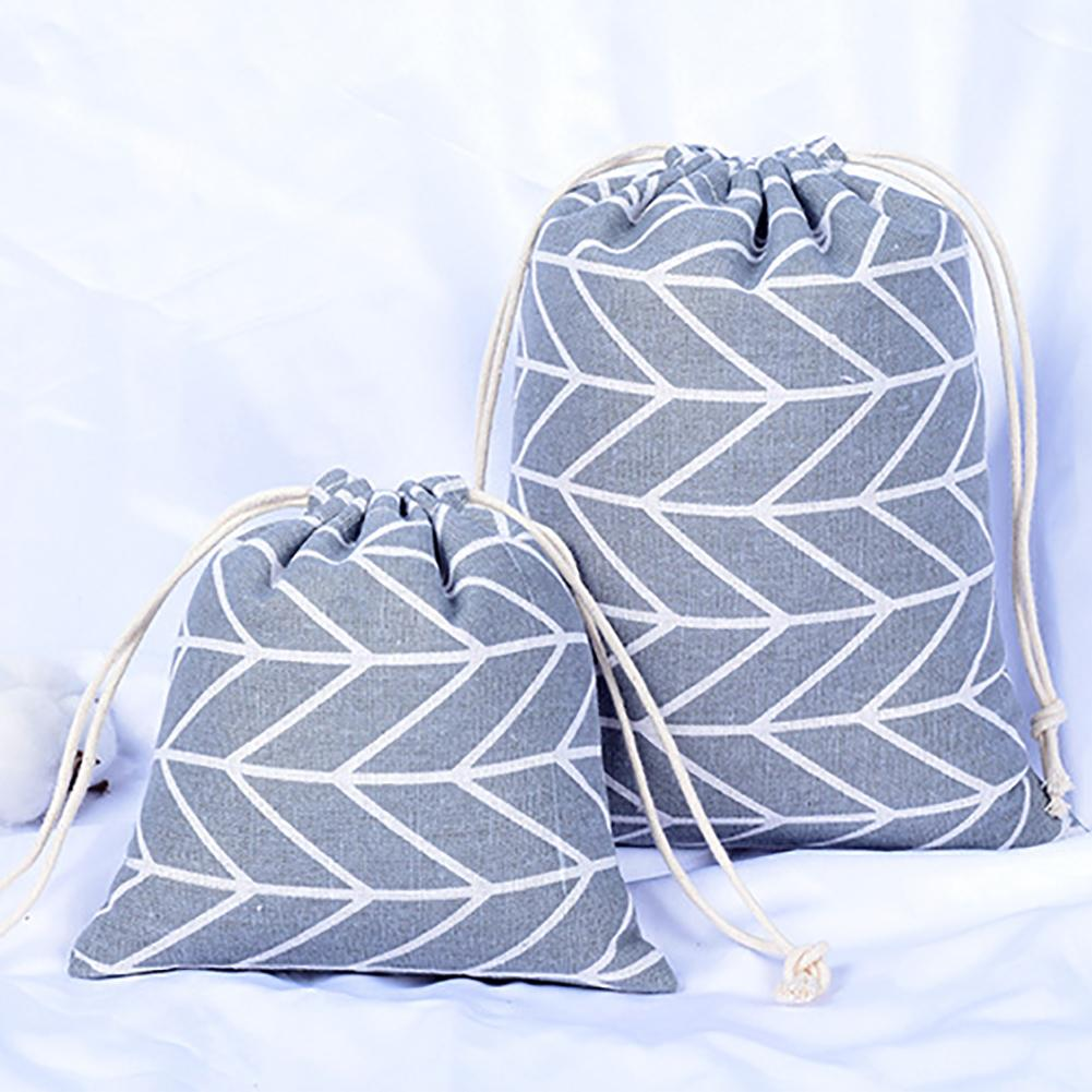Cotton Linen Tote Drawstring Laundry Dirty Clothes Storage Bag Pouch Organizer Storage Bag Useful