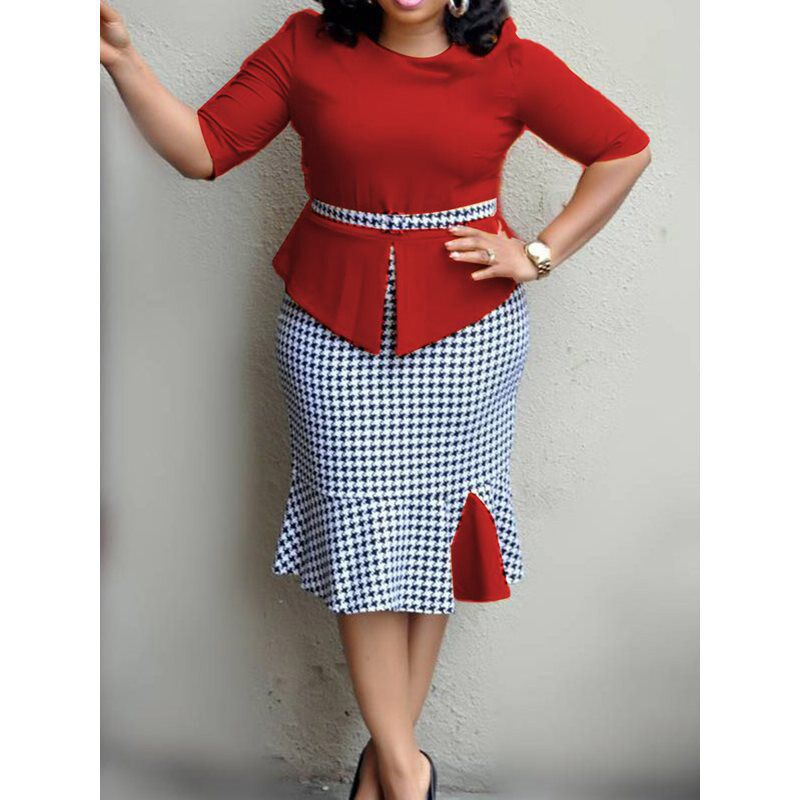 2019 New Arrival Summer Sexy Fashion Style African Women Plus Size Dress M-XXL