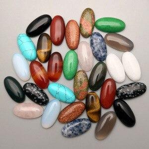 Image 2 - Cuenta de cabujón de piedra natural, mezcla de moda, 10 50 Uds., no hole10X14 13X18 25X18 15X30 20X30 30X40 MM, accesorios de anillo, envío gratis