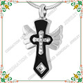 CMJ8429 winged cross western style stainless steel cremation jewelry pendants hot sell cross ash urn