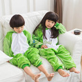 2017 Animal cute Frog Pajamas Children Onesies baby Cosplay Costume Unisex robe kids clothes Boys Girls Flannel Sleepwear Pyjama