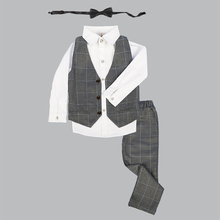 LUOBOBEIBEI Baby Boy Clothing Suits Wedding Boys Costume Formal Clothes Child Costume Toddler 5 Pieces Suits Kids Blazer 2019 boys jackets shirts pant tie 4pcs clothing set suits for wedding kids prom clothes boy costume dress suits plaid blazer f091